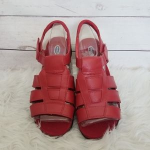 Dr Scholls Red Double Air Pillo Sandals 10W